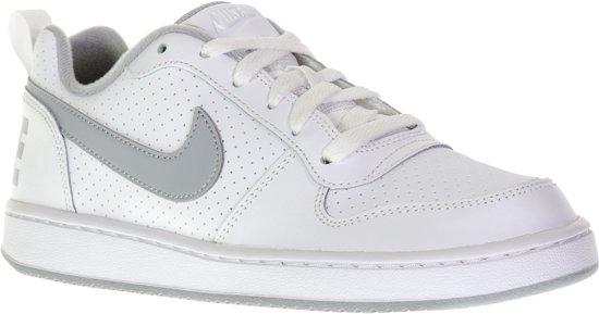 Nike Court Borough Low Sneakers Junior Sportschoenen Maat 39 Unisex witgrijs