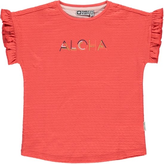 Tumble 'N Dry Meisjes T-shirt Chego - Hot Coral - Maat 98