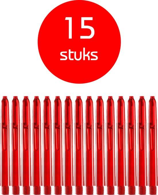 Dragon Darts - edgeglow - darts shafts - 5 sets (15 stuks) - medium  - rood  - dart shafts - shafts