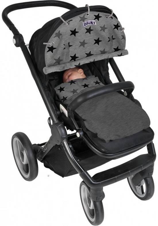 Dooky Baby Deken - Grey Stars 70x85 cm - geschikt voor wieg, autostoel en kinderwagen