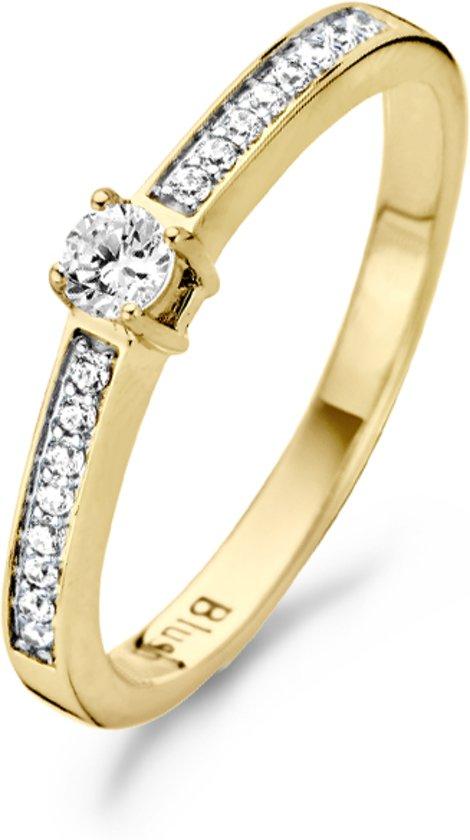 Blush Ring 1145BZI -  Geel en Wit Goud (14Krt.) met Zirconia