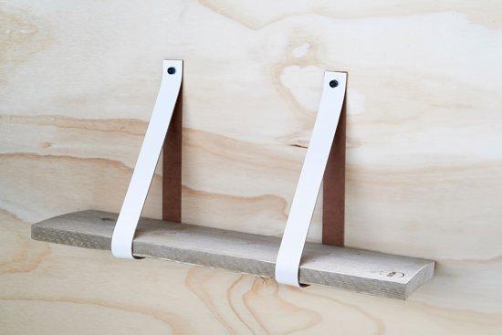 Plank 90 Cm.Bol Com Leren Plankdragers Wit Inclusief Plank 90 Cm