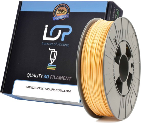 IOP PLA GLITTER METALLIC GOLD 175mm 500gr