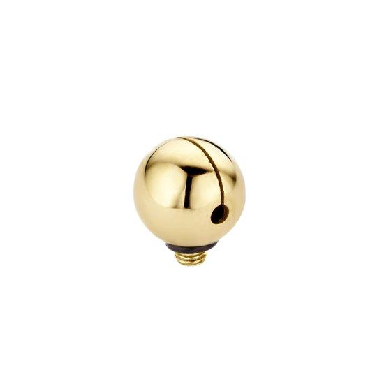 Melano Twisted jinglebell zetting - dames - goudkleurig - 6 mm