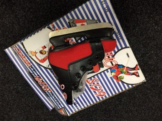 Ontario ijshockeyschaats zwart/rood mt 28