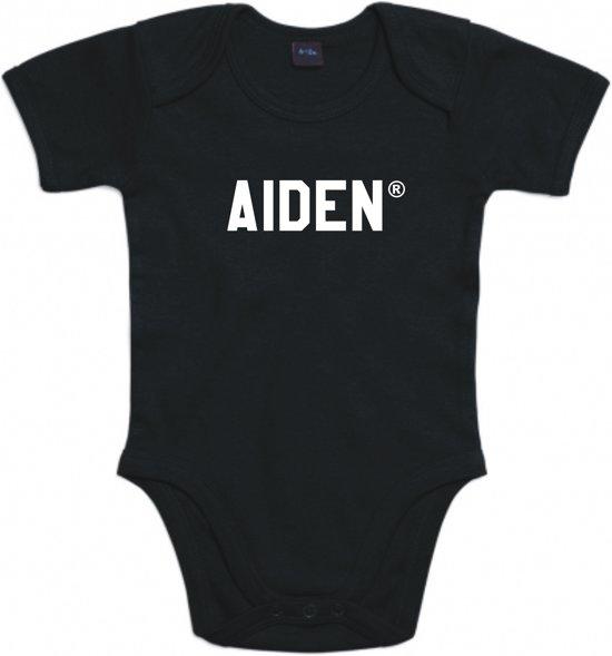 Baby rompertje Aiden | Korte mouw 74/80 zwart