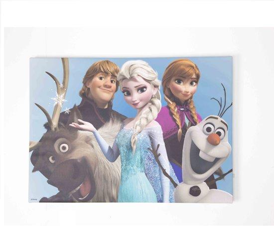 Frozen Slaapkamer Artikelen : Bol.com disney frozen canvas schilderij groepsknuffel 70x50 cm