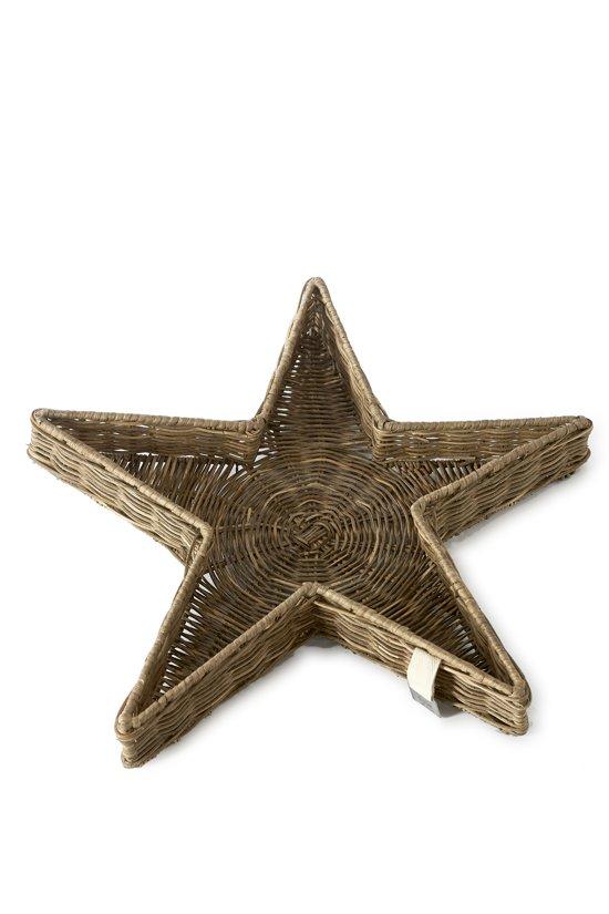Onwijs bol.com | Riviera Maison - Rustic Rattan Star Tray - M - Dienblad SR-94