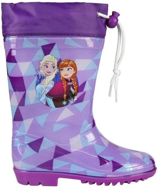 Paarse Frozen regenlaarzen / laarzen met koord voor meisjes 27-28