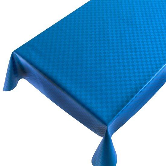 Gecoat tafellinnen Damast Blauw - Beschikbaar in 12 maten