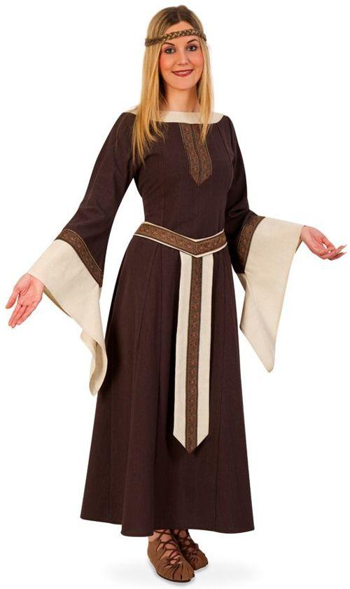 Jurk Middeleeuwse edelvrouw voor dame maat L