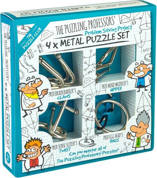 Afbeelding van het spel Puzzling Professors Metal Puzzle Set 4x