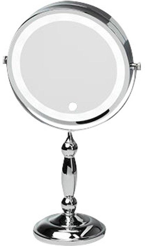 make up spiegel met led verlichting 7x vergrotend chroom