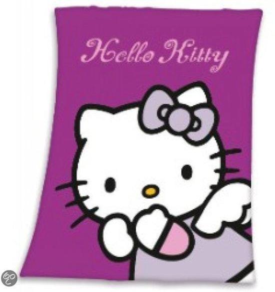 Hello Kitty Fleece Deken.Bol Com Disney Hello Kitty Engeltje Fleece Deken