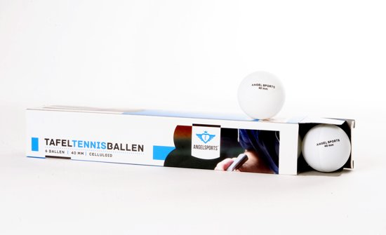Angel Sports Tafeltennisballen 6 stuks In doosje