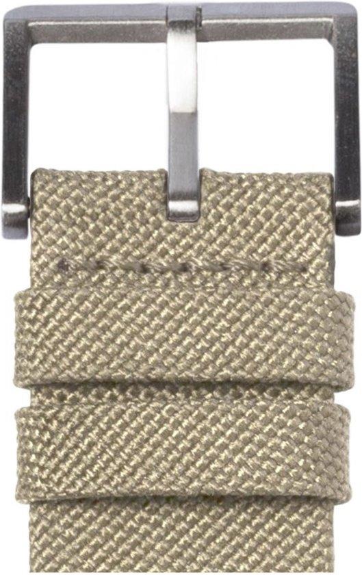 LEFF amsterdam tube watch D38 steel / sand nylon-leather strap