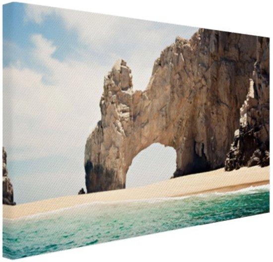 Boog van Cabo Mexico Canvas 180x120 cm - Foto print op Canvas schilderij (Wanddecoratie woonkamer / slaapkamer) XXL / Groot formaat!