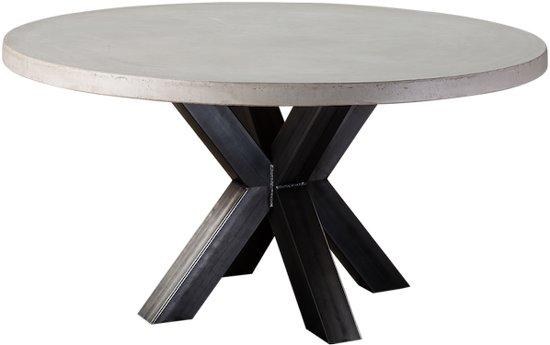Ronde Eettafel Zwart 150.Table Du Sud Beton Ronde Tafel Xx Metaal 130 Cm