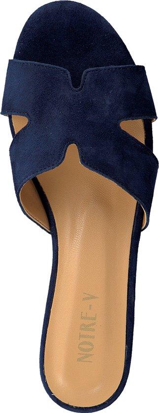 Notre Slippers Dames v 37 Maat Blauw 2213 FxFSvq8w