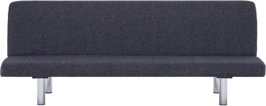 vidaXL Slaapbank polyester donkergrijs