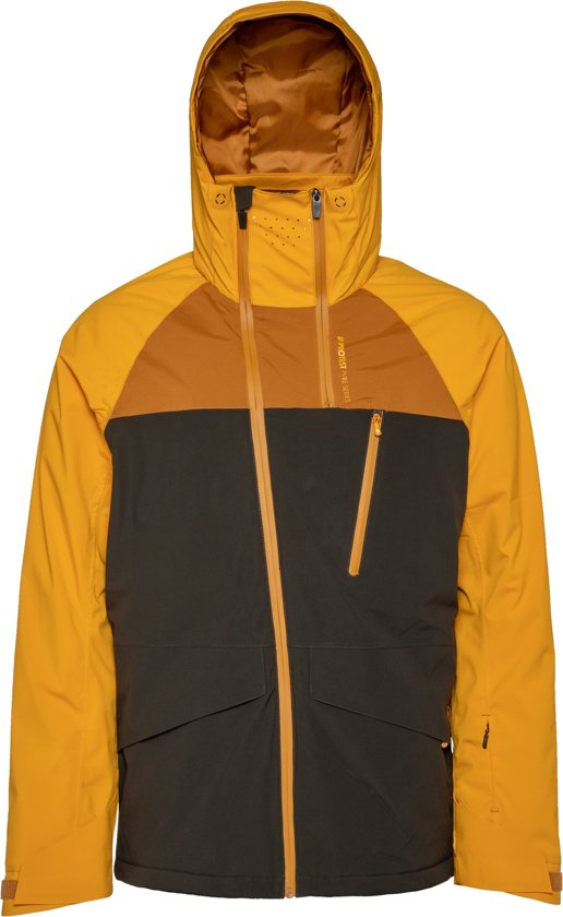 Protest KIKHAM Ski Jas Heren - Dark Yellow - Maat M
