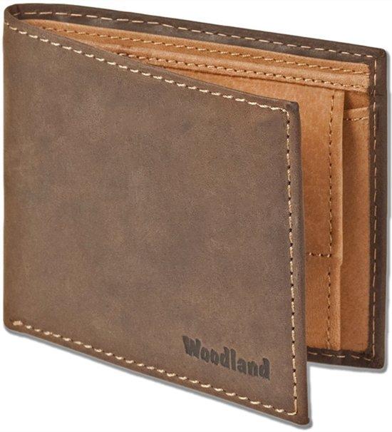 Woodland Billfold Portemonnee Compact - Leer - Bruin Duotone
