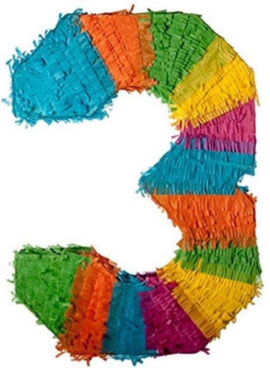 Pinata - cijfer 3 (traditionele piñata) Valentinaa