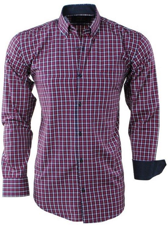 Borstzak Heren Enrico Overhemd Polo Geblokt Rood Navy IwaBq