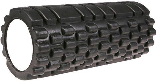 Massage foam roller GRID (33 cm) - Zwart