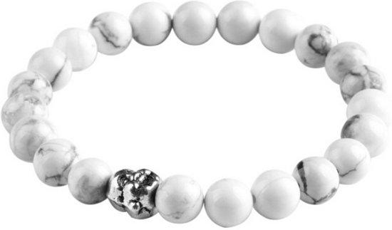 Fako Bijoux® - Buddha Armband - Smile - Wit
