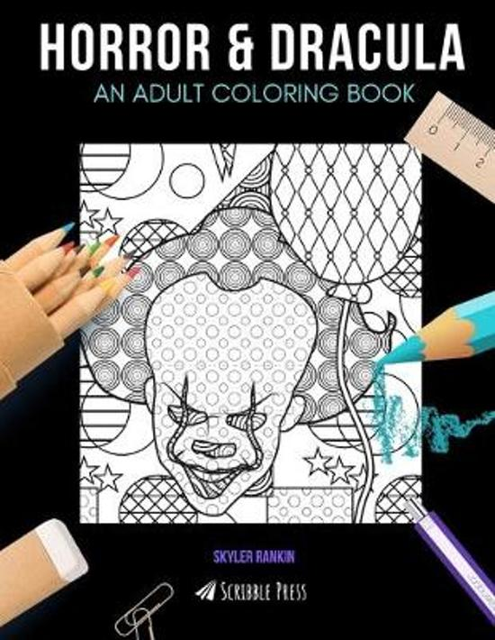 Horror & Dracula: AN ADULT COLORING BOOK: Horror & Dracula - 2 Coloring Books In 1