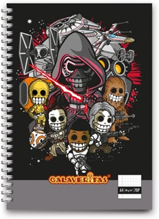 Calaveritas - Space warriors notebook A4