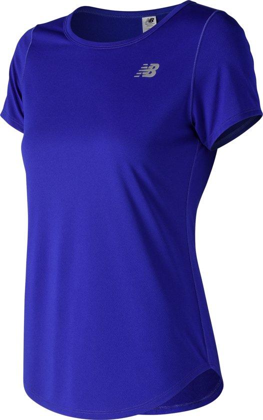 New Balance ACCELERATE SHORTSLEEVE V2 Sportshirt Dames - Blue