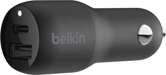 Belkin BOOST↑CHARGE 2-poorts 30W autolader 18W USB-C & 12W USB-A - snellader