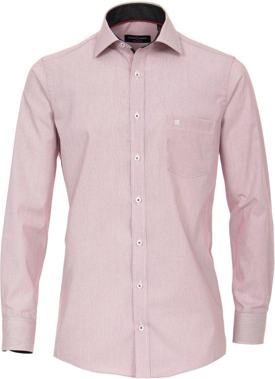 Casa Moda Heren Overhemd Rood Streep Kent Poplin Comfort Fit - 41