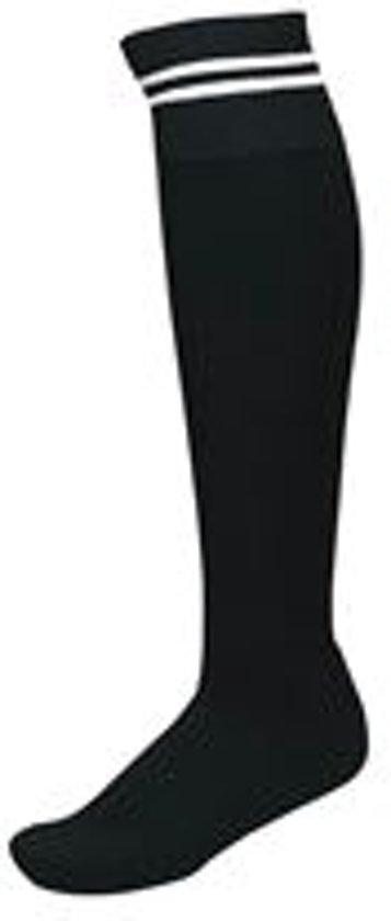 2 paar sportsokken met strepen Zwart-Wit maat 43/46