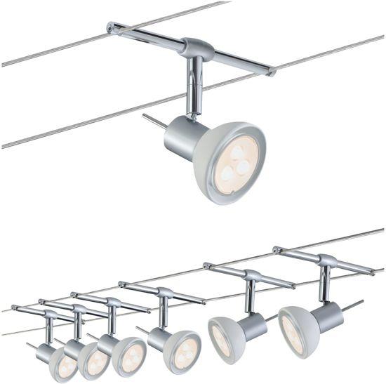 paulmann 94123 gu53 4w chroom plafondverlichting