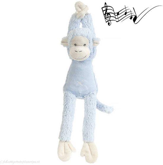 Happy Horse Aap Mickey Blauw Muziekknuffel - 40 cm