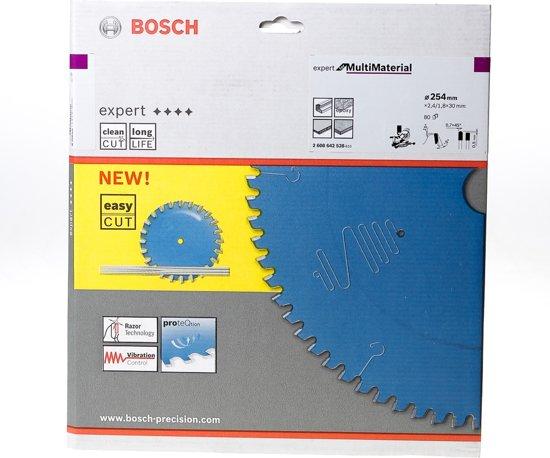 Bosch Cirkelzaagblad 80 tanden Multi Material Negative TCG 254 x 30 x 2.4mm