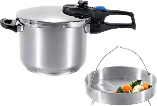 ELO Praktika Plus XL Snelkookpan 6 Liter - Met Inzet