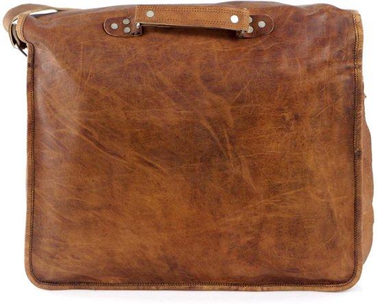 Leer Bruin Vintage Look 16 Laptoptas Messengertas qRq4EnaWwt
