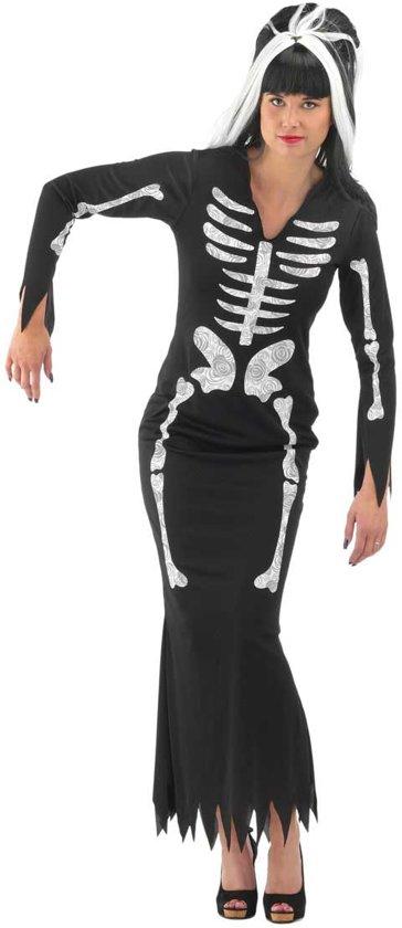 93937eb524c6fc Skelet Jurk Zwart Dames - Carnavalskleding - Maat S M