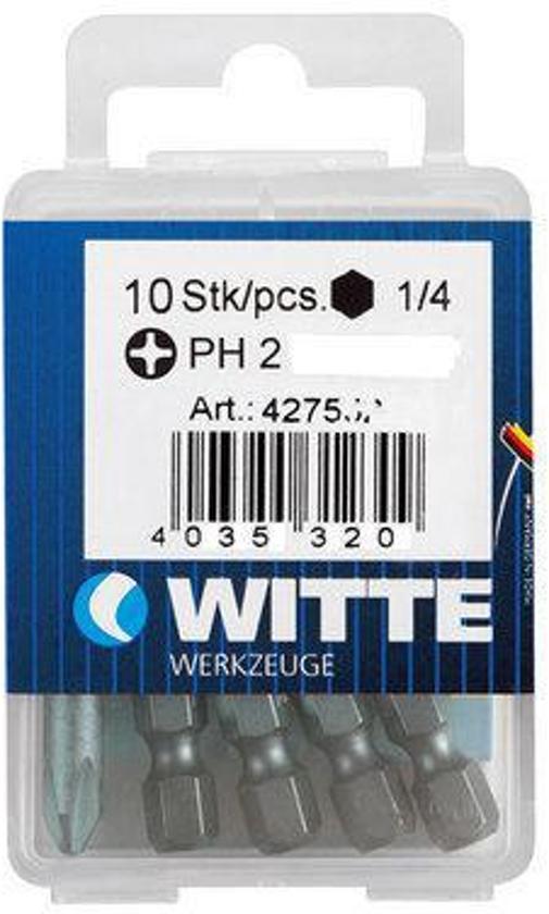 Witte Bit phi 2 5 stuks