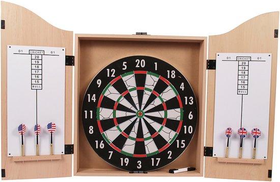 Dartbord In Kast : Bol surround dartkabinet inclusief dartbord dartpijltjes