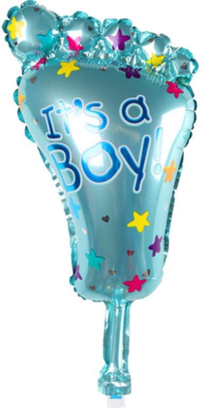 Geboorte Cadeau Jongen Babyshower Versiering Voet Folie Balonnen Helium