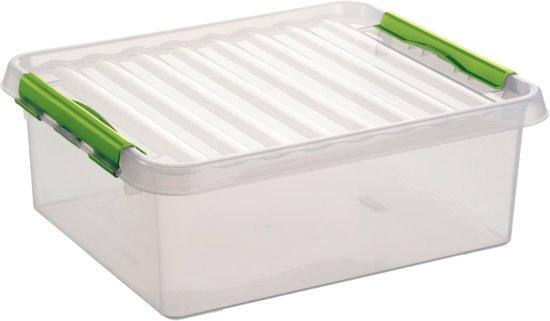 Sunware Q-line Opbergbox 25L - transparant/groen