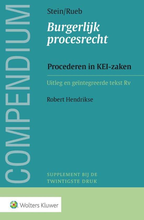 Extreem bol.com | Compendium Burgerlijk procesrecht, Procederen in KEI  SV-45