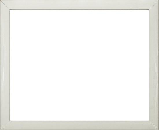 Colorado MDF fotolijst 30x80 cm, wit houtnerf