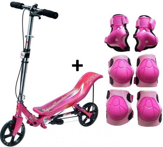 Space Scooter Nieuw Model - Step - Roze - met beschermset