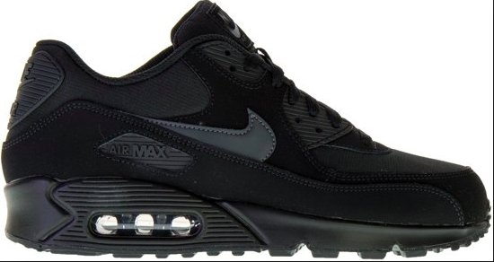the latest 0a664 dfde0 Nike Air Max 90 Sneaker voor mannen zwart  donker grijs - maat 42.5 - AJ1285